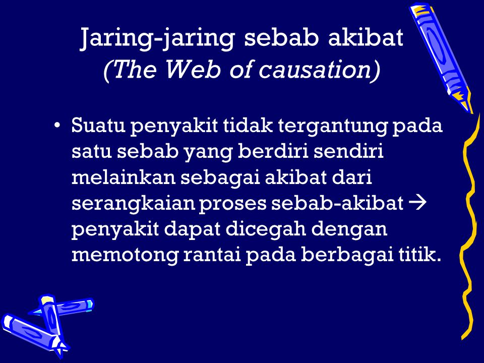 Jaring-jaring sebab akibat (The Web of causation)