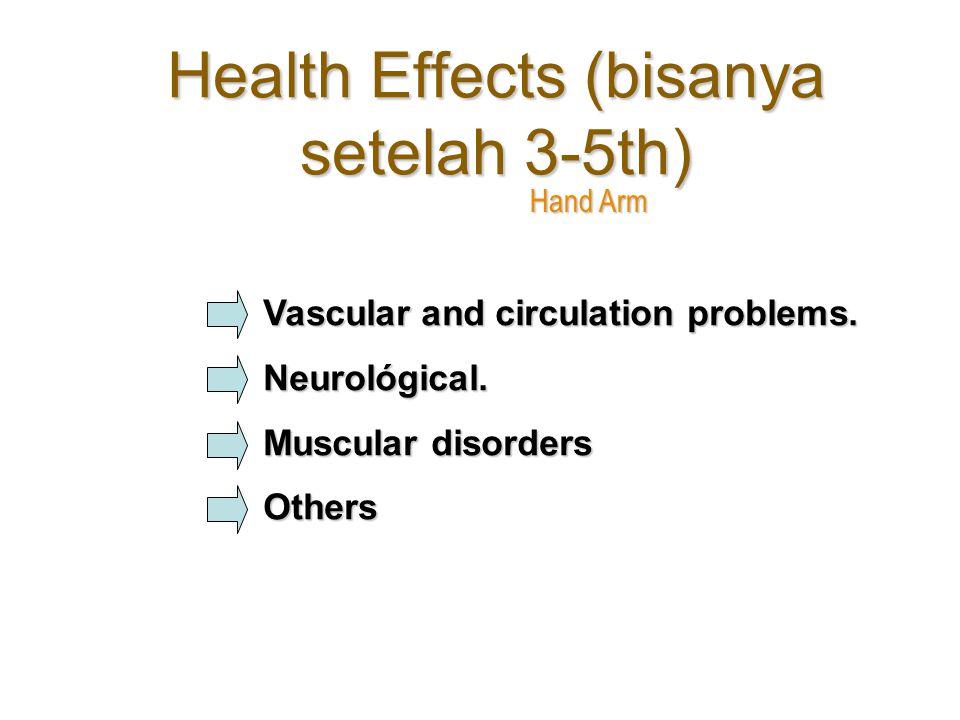 Health Effects (bisanya setelah 3-5th)