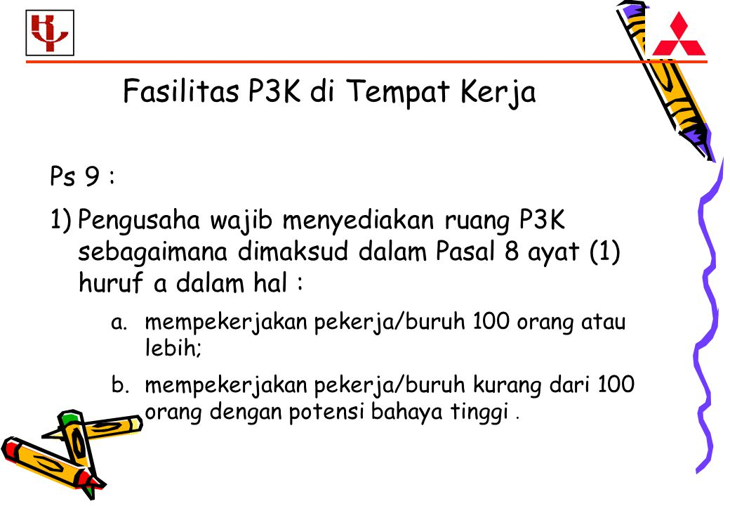 Fasilitas P3K di Tempat Kerja