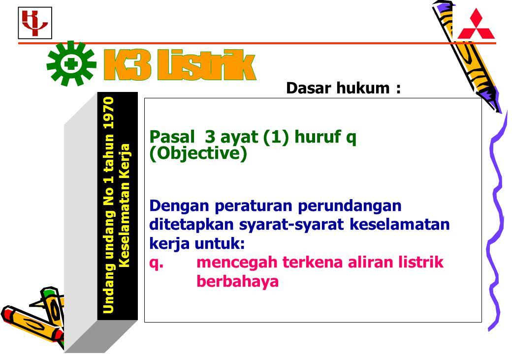 ggggggggggg K3 Listrik Pasal 3 ayat (1) huruf q (Objective)