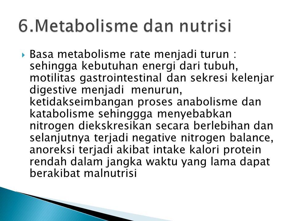6.Metabolisme dan nutrisi