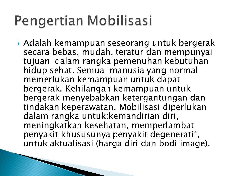 Pengertian Mobilisasi