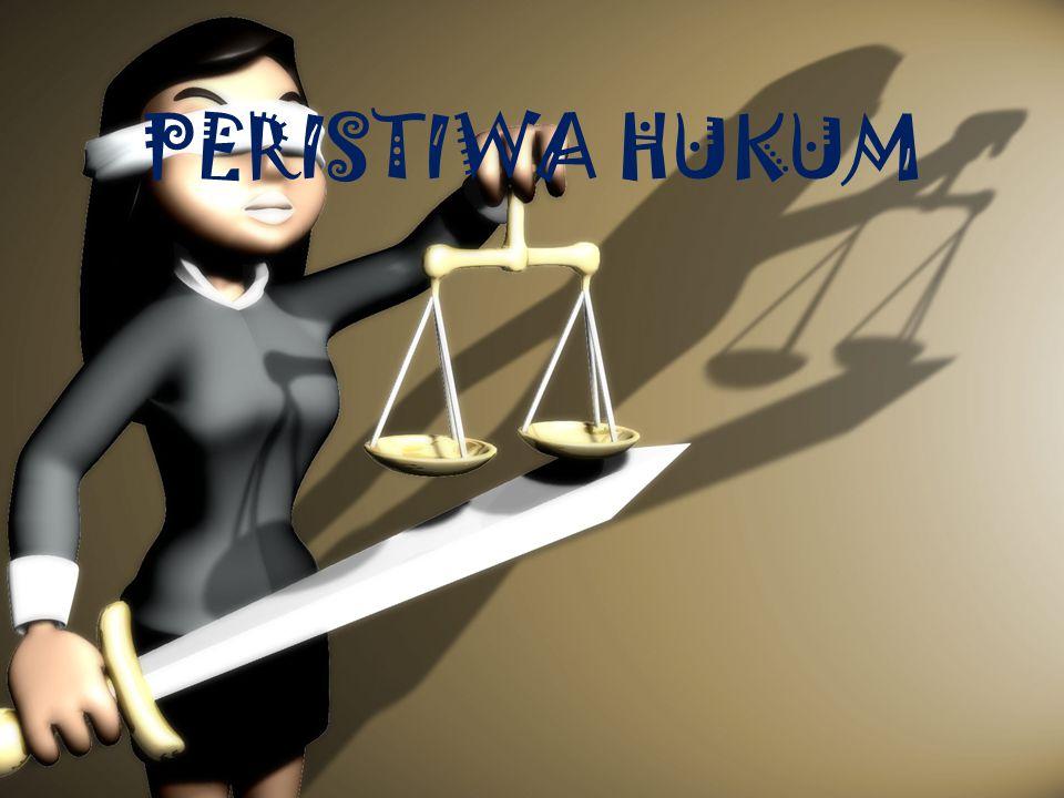 PERISTIWA HUKUM