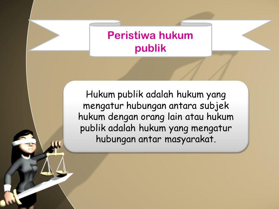 Peristiwa hukum publik