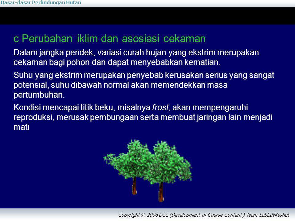 c Perubahan iklim dan asosiasi cekaman