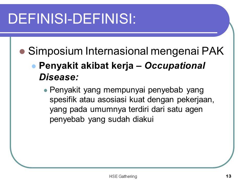 DEFINISI-DEFINISI: Simposium Internasional mengenai PAK