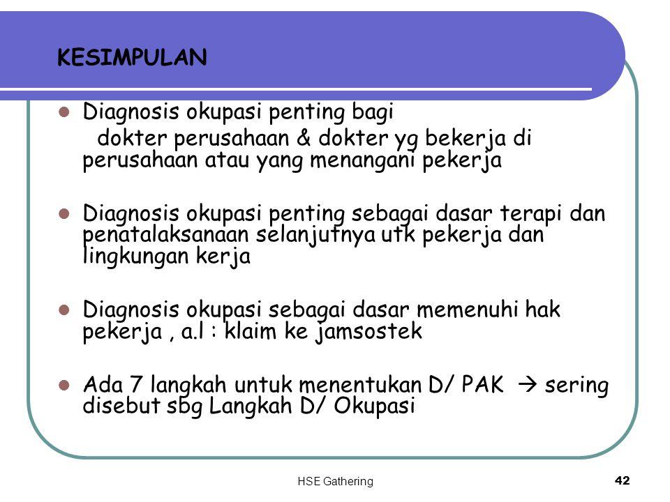Diagnosis okupasi penting bagi