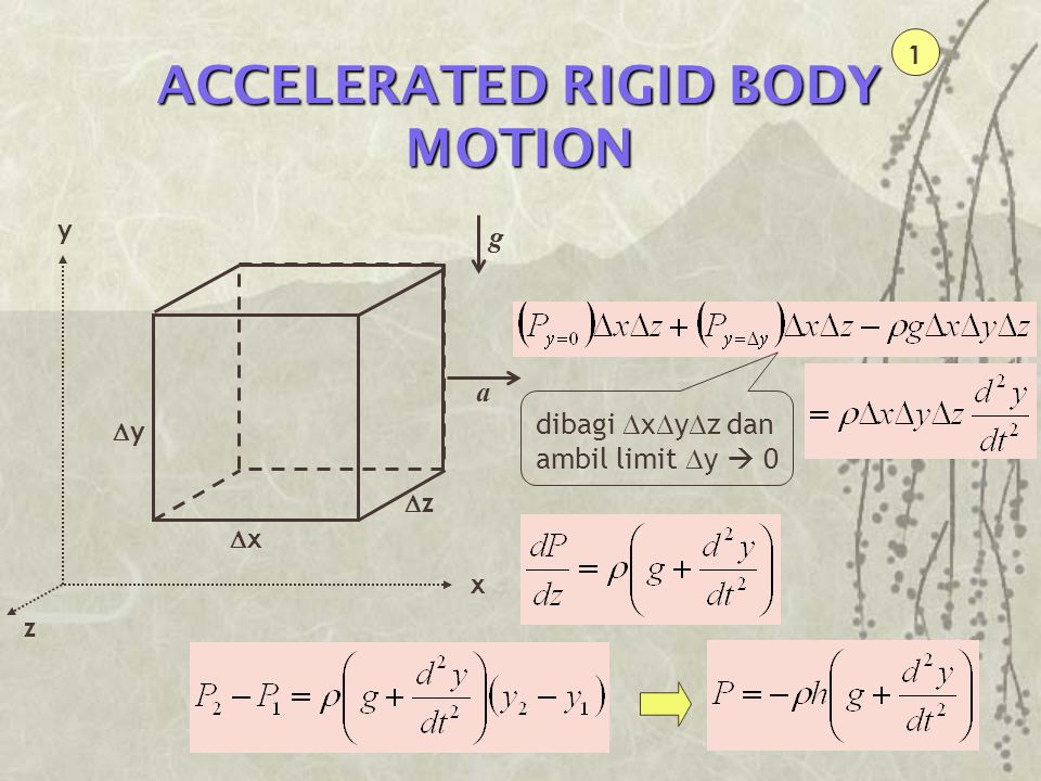 ACCELERATED RIGID BODY MOTION
