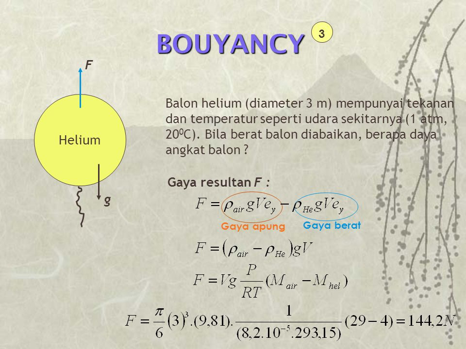 BOUYANCY 3. F.