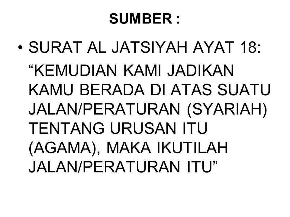 SURAT AL JATSIYAH AYAT 18: