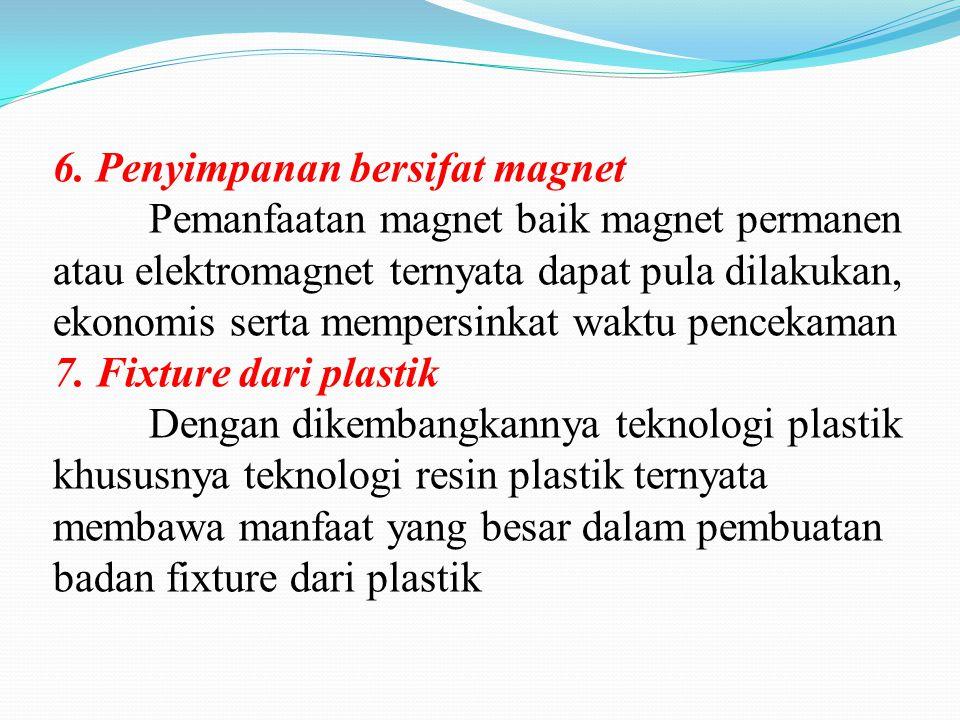 6. Penyimpanan bersifat magnet