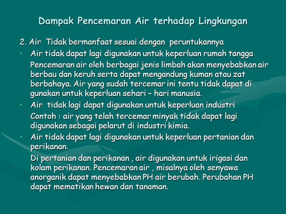 Dampak Pencemaran Air terhadap Lingkungan