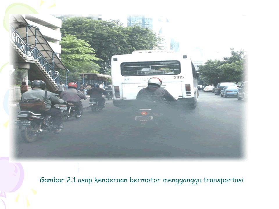 Gambar 2.1 asap kenderaan bermotor mengganggu transportasi