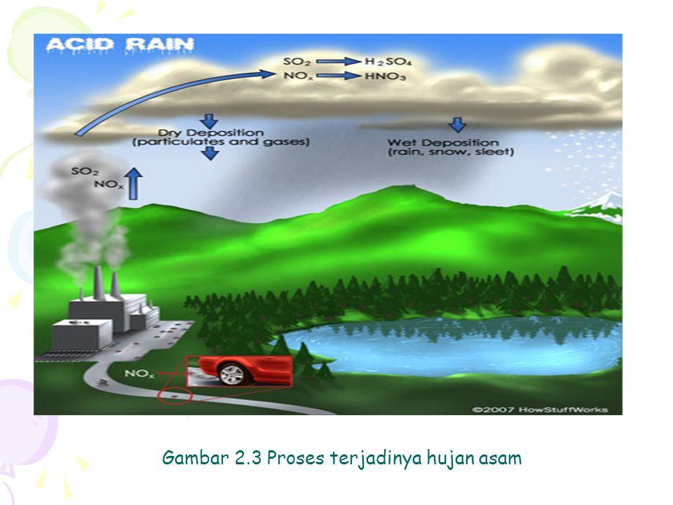 Gambar 2.3 Proses terjadinya hujan asam