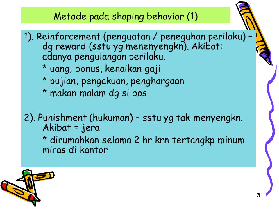 Metode pada shaping behavior (1)
