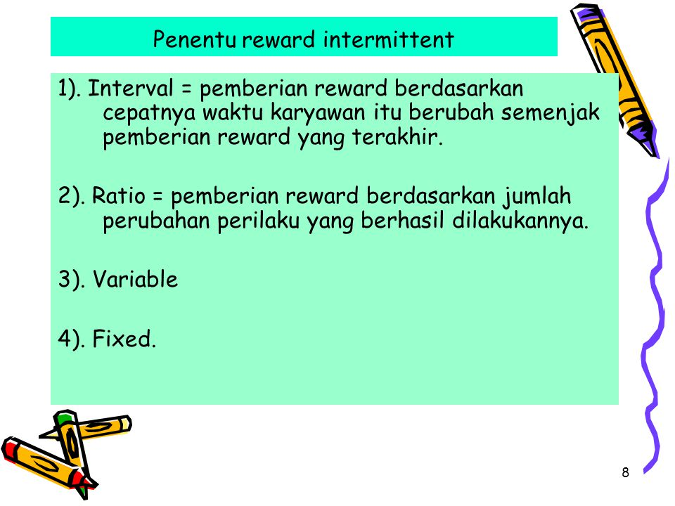 Penentu reward intermittent