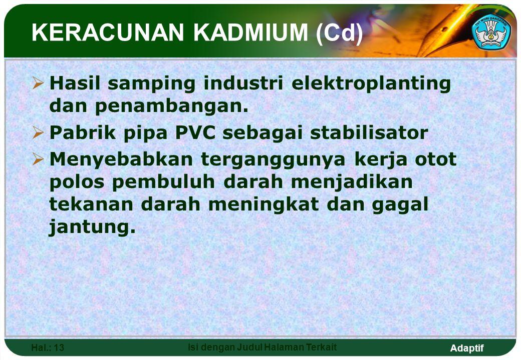 KERACUNAN KADMIUM (Cd)