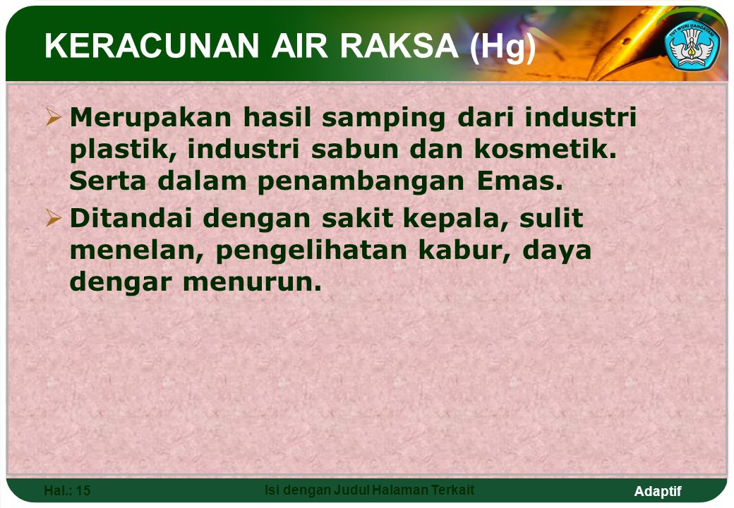 KERACUNAN AIR RAKSA (Hg)