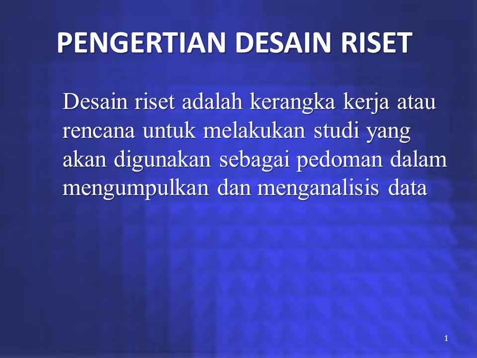 PENGERTIAN DESAIN RISET
