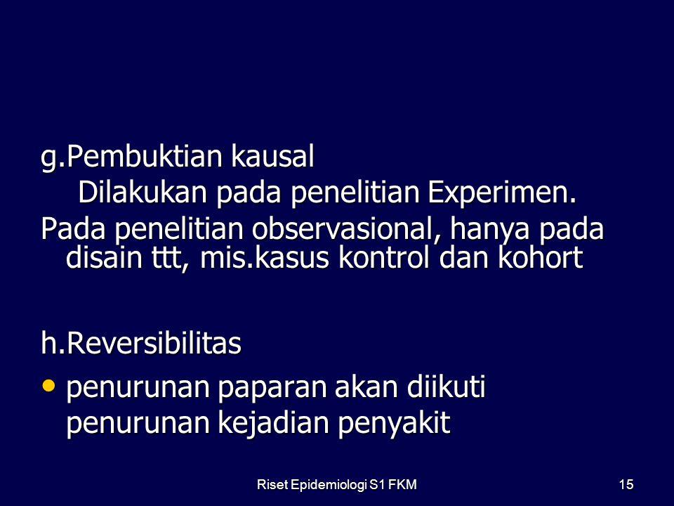 Riset Epidemiologi S1 FKM