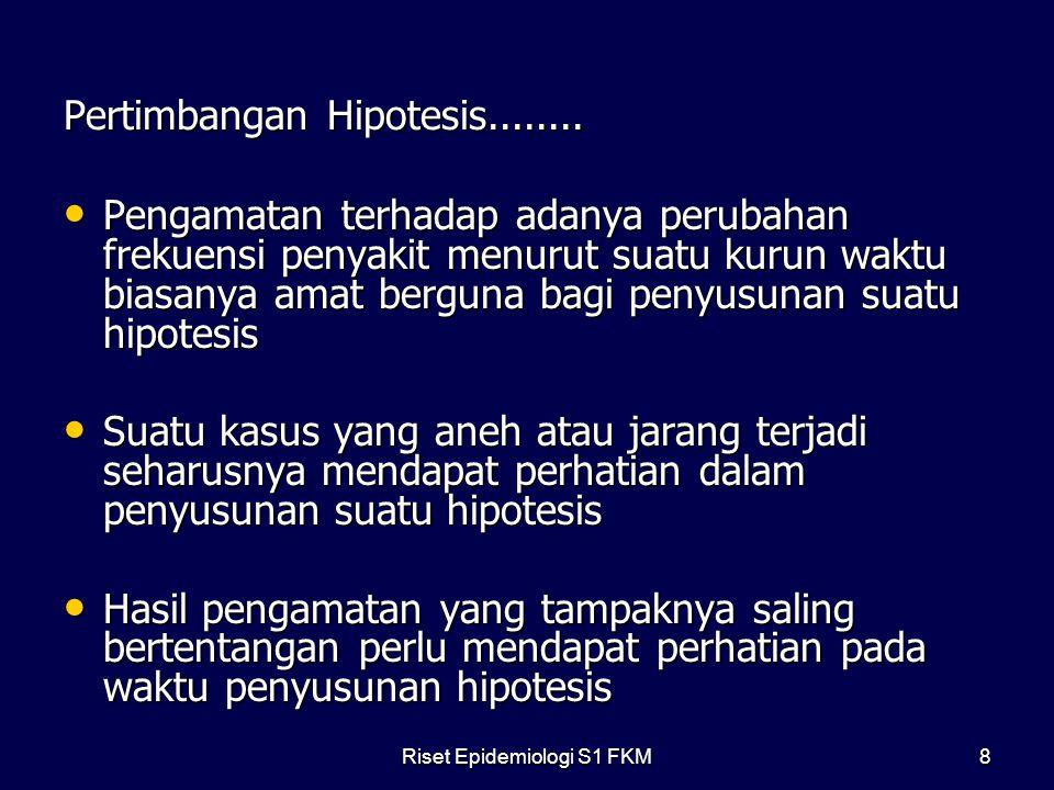 Pertimbangan Hipotesis........