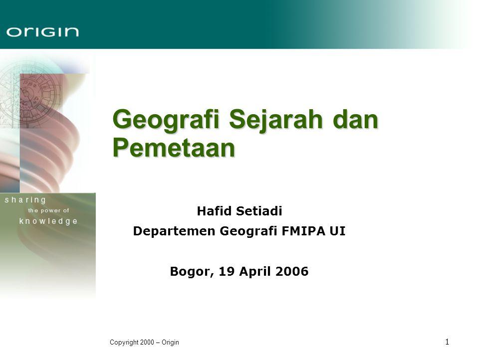 Geografi Sejarah dan Pemetaan