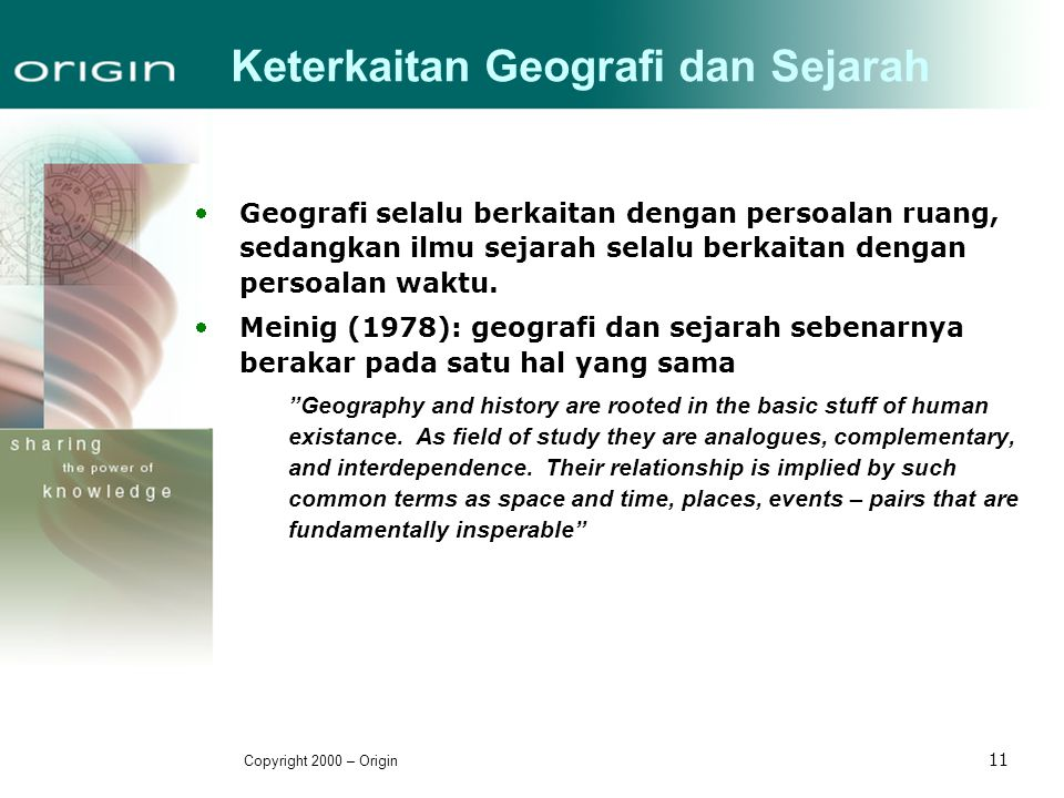 Keterkaitan Geografi dan Sejarah