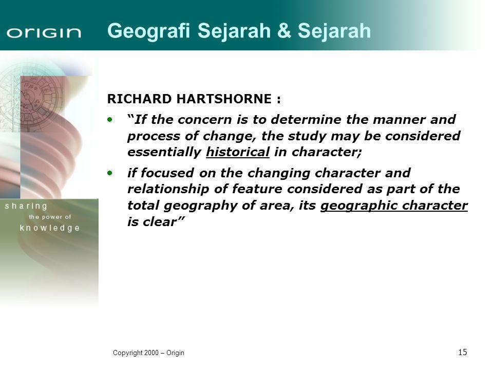Geografi Sejarah & Sejarah
