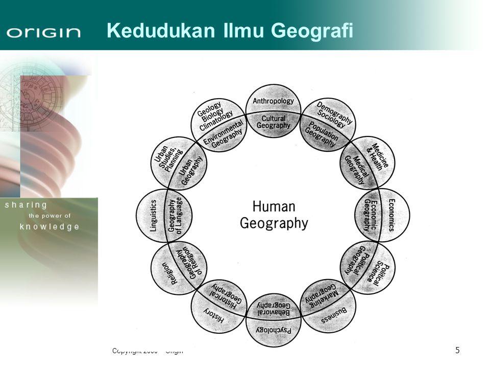 Kedudukan Ilmu Geografi