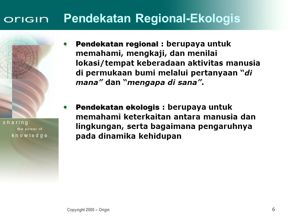 Pendekatan Regional-Ekologis