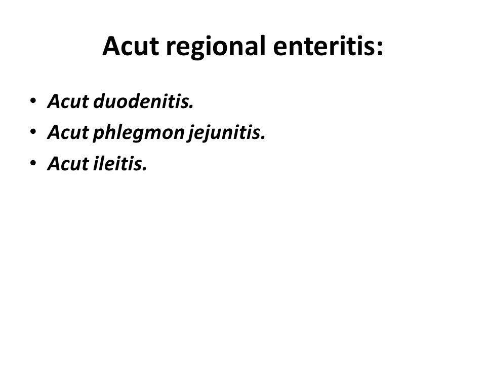 Acut regional enteritis: