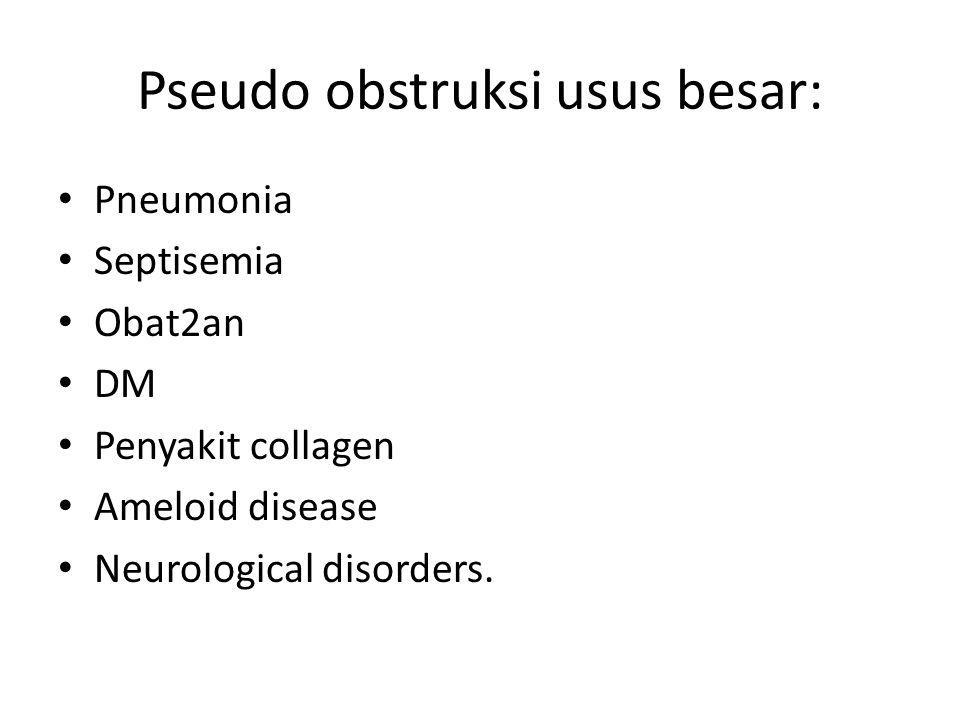 Pseudo obstruksi usus besar: