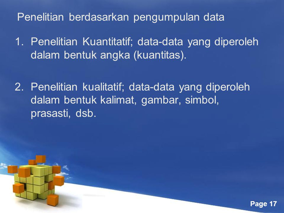 Penelitian berdasarkan pengumpulan data