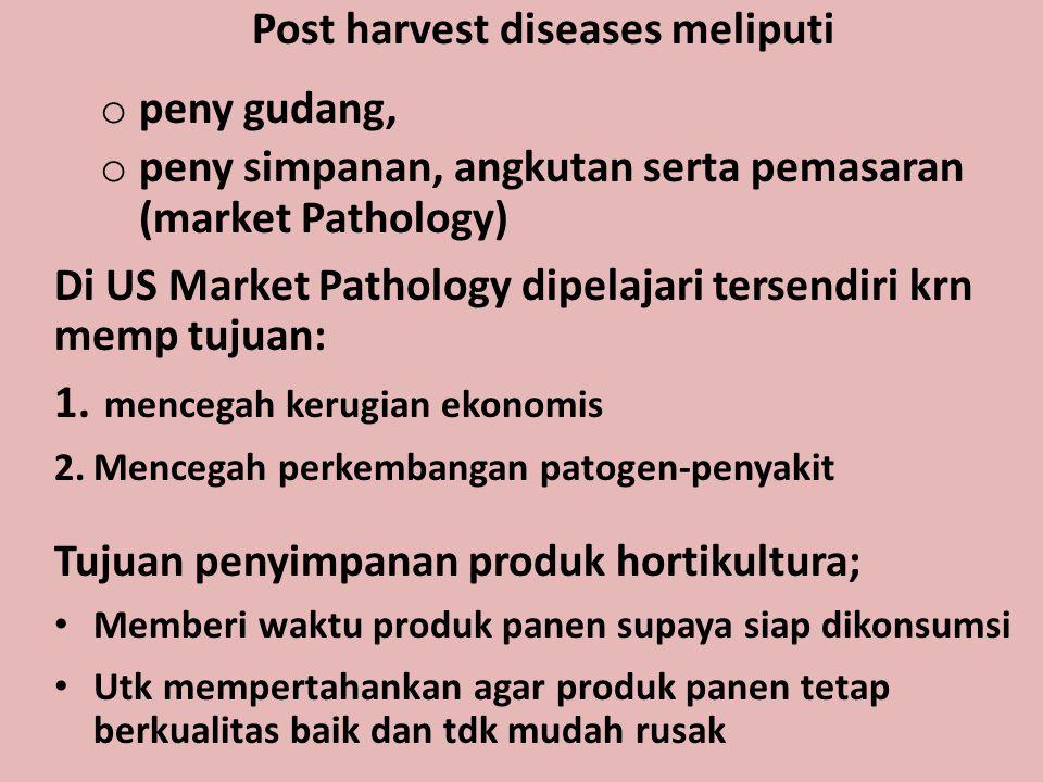 Post harvest diseases meliputi