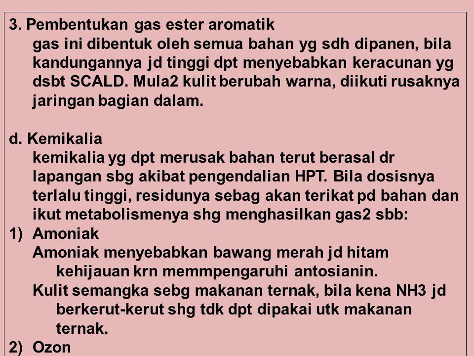 3. Pembentukan gas ester aromatik