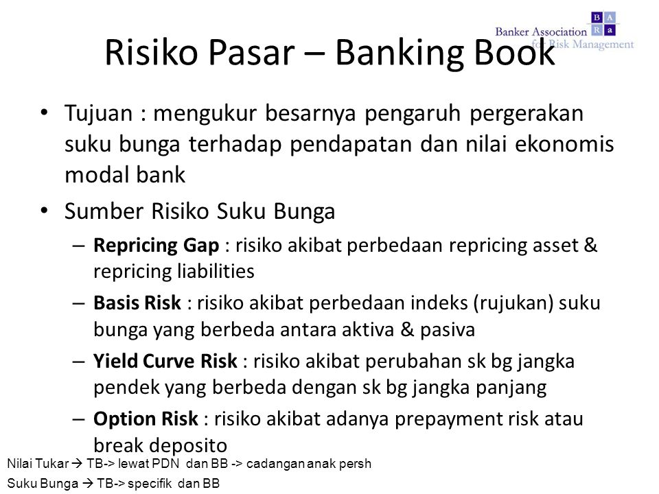 Risiko Pasar – Banking Book
