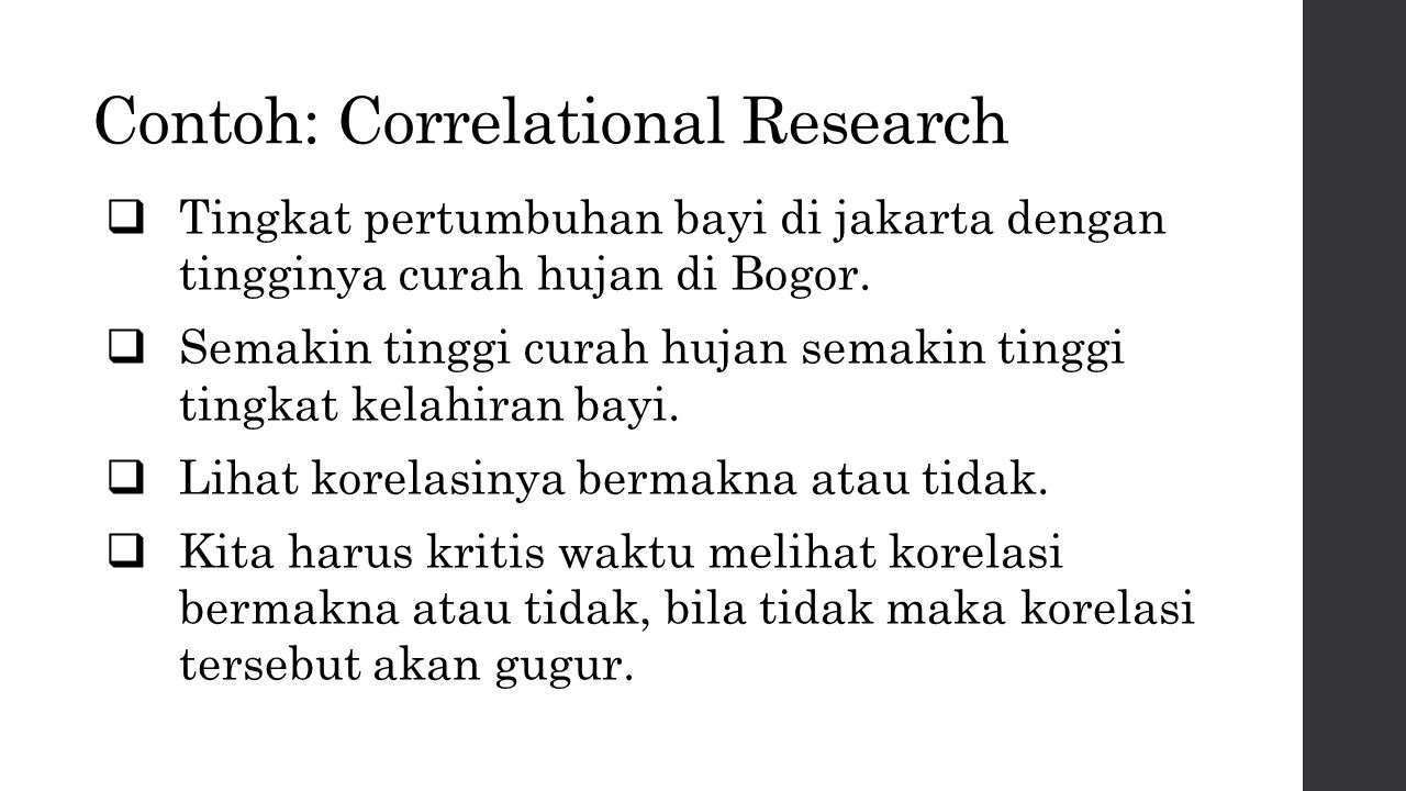 Contoh: Correlational Research