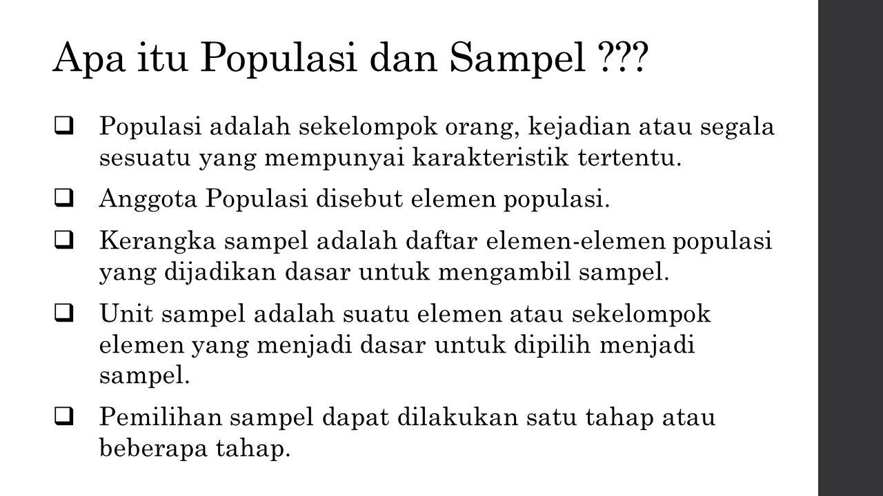 Apa itu Populasi dan Sampel
