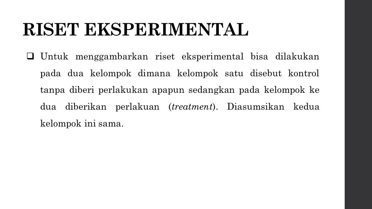 RISET EKSPERIMENTAL