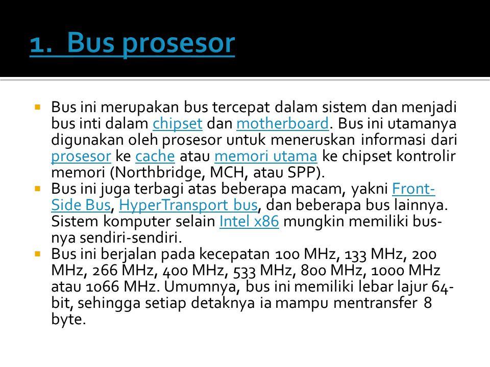 1. Bus prosesor