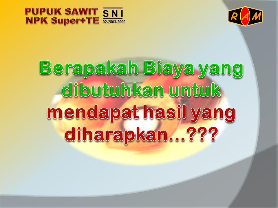 PUPUK SAWIT NPK Super+TE. S N I. 02-2803-2000.