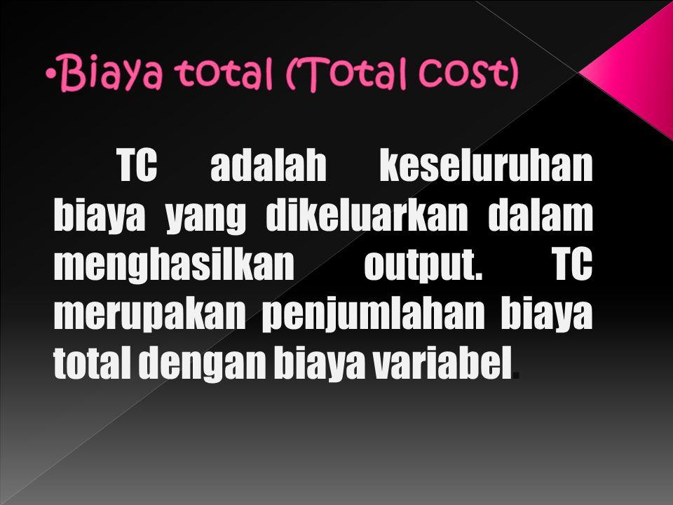 Biaya total (Total cost)