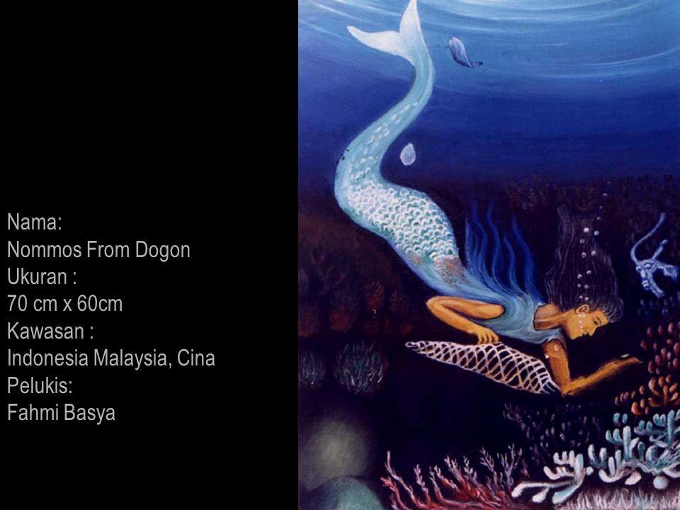 Nama: Nommos From Dogon. Ukuran : 70 cm x 60cm.