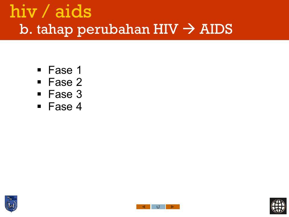 hiv / aids b. tahap perubahan HIV  AIDS