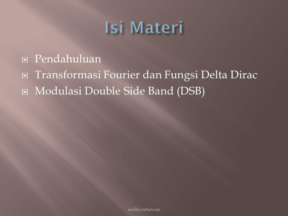 Isi Materi Pendahuluan Transformasi Fourier dan Fungsi Delta Dirac
