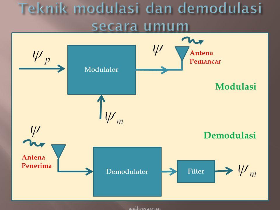 Teknik modulasi dan demodulasi secara umum
