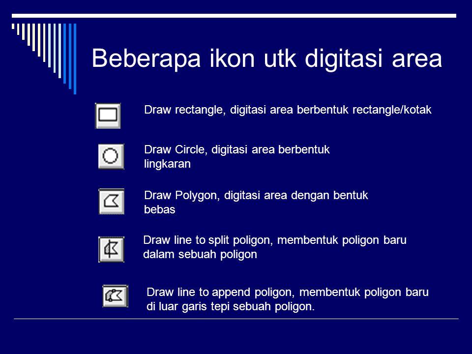 Beberapa ikon utk digitasi area