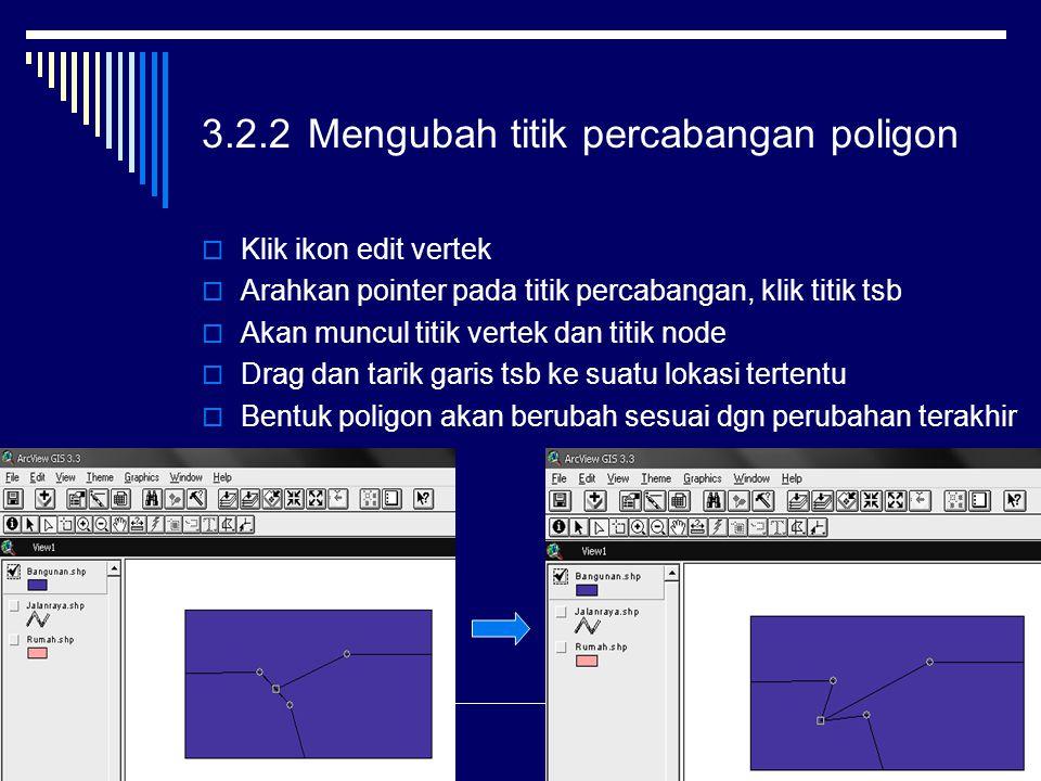 3.2.2 Mengubah titik percabangan poligon