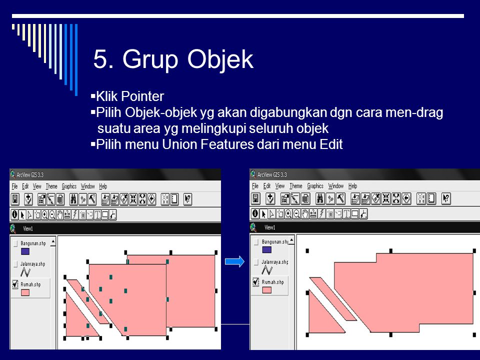 5. Grup Objek Klik Pointer