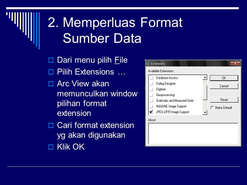 2. Memperluas Format Sumber Data